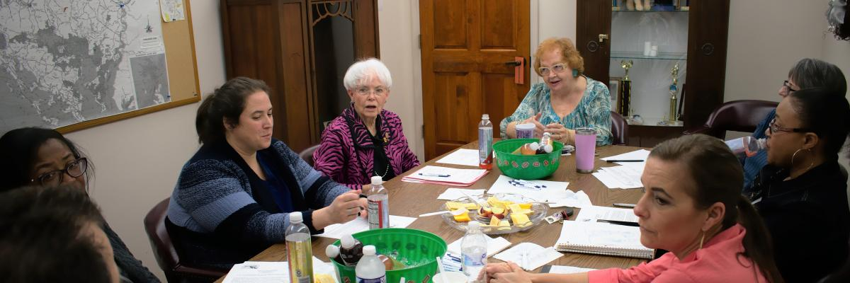 State Senator Adelaide Eckardt visits Pleasant Day Adult Day Care