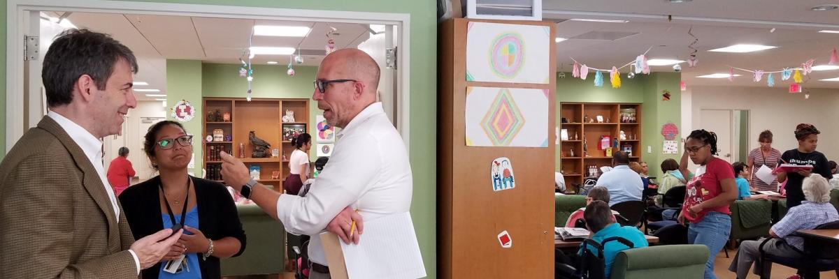 Montgomery County Council Member Tom Hucker visits Easterseals Medical Day Care Center